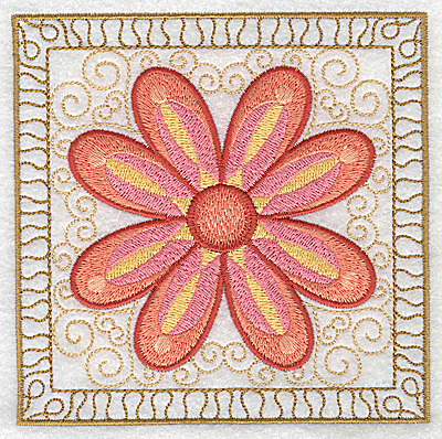 Embroidery Design: Flower 3 large 4.94w X 4.94h