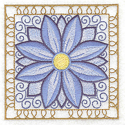 Embroidery Design: Flower 4 small 3.86w X 3.86h