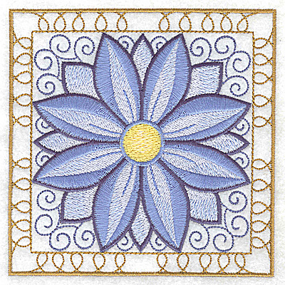 Embroidery Design: Flower 4 large 4.94w X 4.94h
