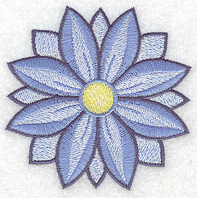 Embroidery Design: Flower only 4 3.19w X 3.19h