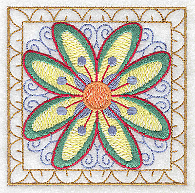 Embroidery Design: Flower 5 small 3.86w X 3.86h