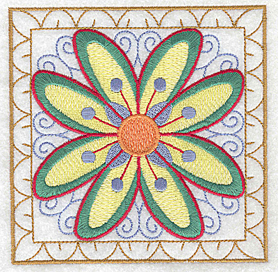 Embroidery Design: Flower 5 large 4.94w X 4.94h
