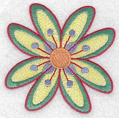 Embroidery Design: Flower only 5 3.20w X 3.20h