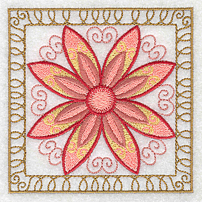 Embroidery Design: Flower 6 small 3.86w X 3.86h