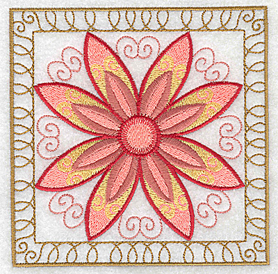 Embroidery Design: Flower 6 large 4.94w X 4.94h