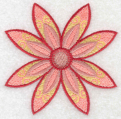 Embroidery Design: Flower only 6 3.15w X 3.15h