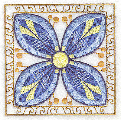 Embroidery Design: Flower 7 small 3.86w X 3.86g