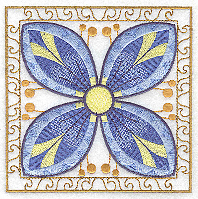 Embroidery Design: Flower 7 large 4.94w X 4.94h