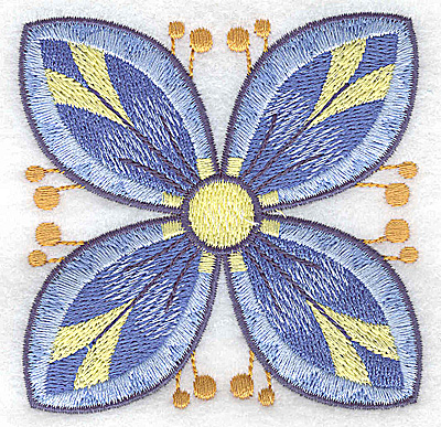 Embroidery Design: Flower only 7 3.24w X 3.24h