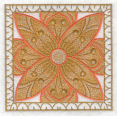 Embroidery Design: Flower 8 small 3.86w X 3.86h