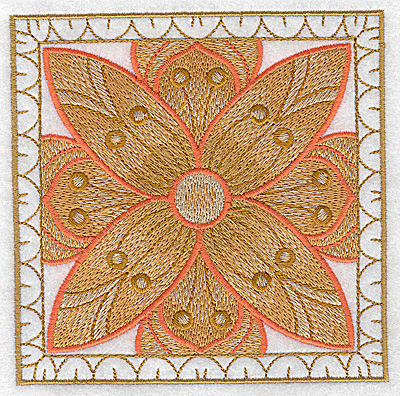 Embroidery Design: Flower 8 large 4.94w X 4.94h