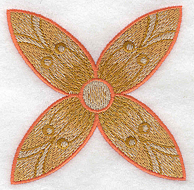 Embroidery Design: Flower only 8 3.19w X 3.19h