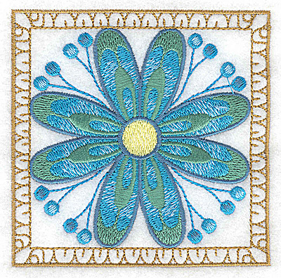 Embroidery Design: Flower 9 small 3.86w X 3.86h