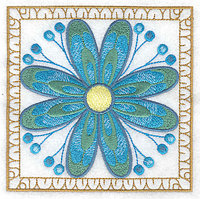 Embroidery Design: Flower 9 large 4.94w X 4.94h