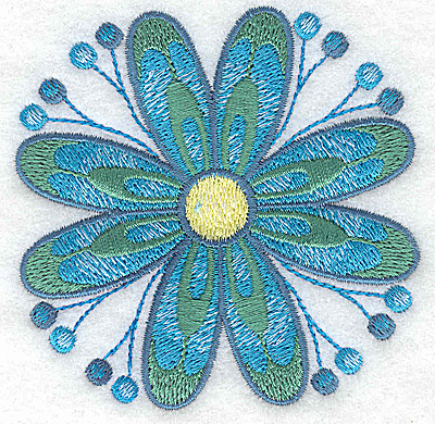 Embroidery Design: Flower only 9 3.31w X 3.30h