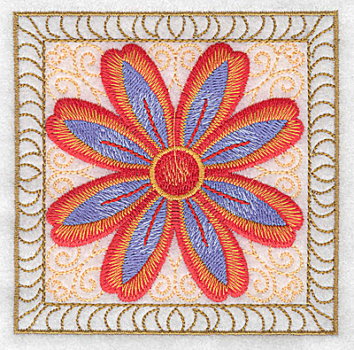 Embroidery Design: Flower 10 small 3.86w X 3.86h