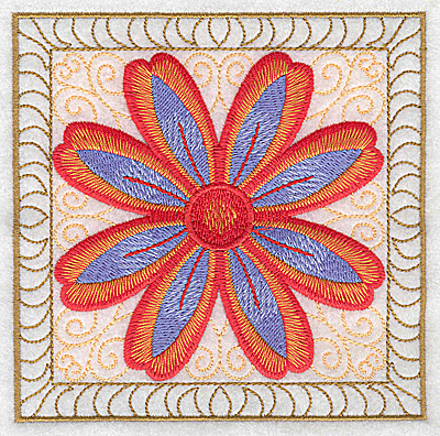 Embroidery Design: Flower 10 large 4.94w X 4.94h