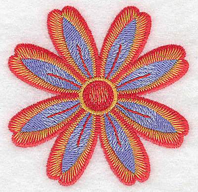 Embroidery Design: Flower only 10 3.13w X 3.13h