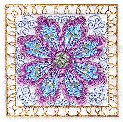 Embroidery Design: Flower 11 small 3.86w X 3.86h