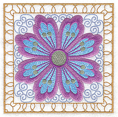 Embroidery Design: Flower 11 large 4.94w X 4.94h