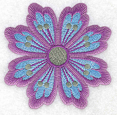Embroidery Design: Flower only 11 3.09w X 3.09h
