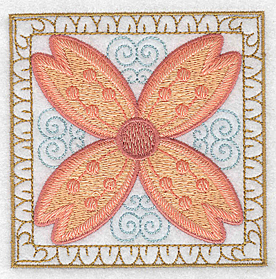 Embroidery Design: Flower 12 small 3.86w X 3.86h