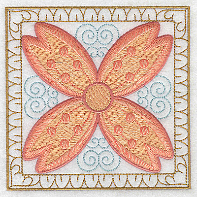 Embroidery Design: Flower 12 large 4.94w X 4.93h