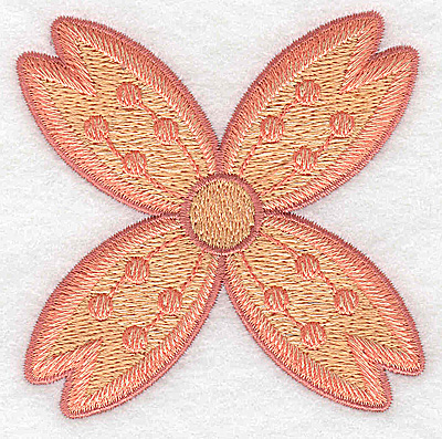 Embroidery Design: Flower only 12 3.19w X 3.19h