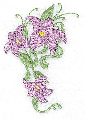 Embroidery Design: Lily trio 2.55w X 3.79h