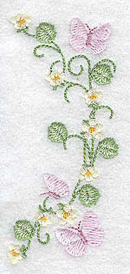Embroidery Design: Butterflies and blossoms 1.78w X 3.88h