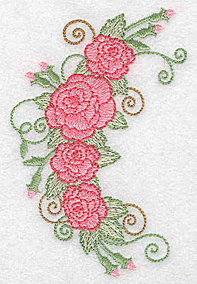 Embroidery Design: Roses and buds 2.58w X 3.87h