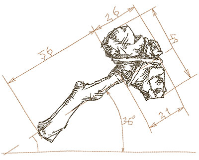 Embroidery Design: Old School Tool Lg 10.01w X 7.68h