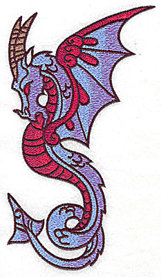 Embroidery Design: Dragon 1 large 3.46w X 6.92h