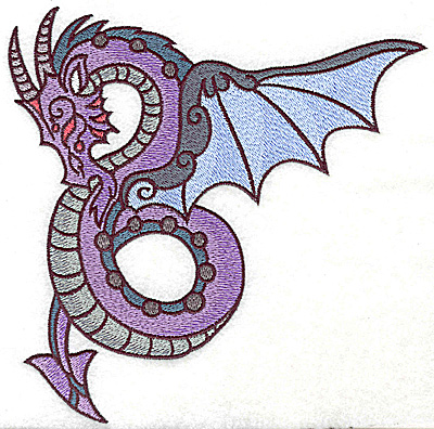 Embroidery Design: Dragon 2 large 6.94w X 6.85h
