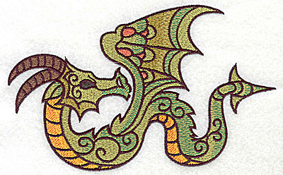 Embroidery Design: Dragon 3 large 6.92w X 4.25h