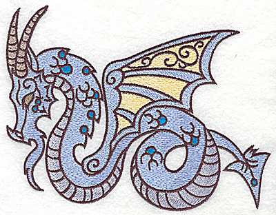 Embroidery Design: Dragon 4 large 6.93w X 5.26h