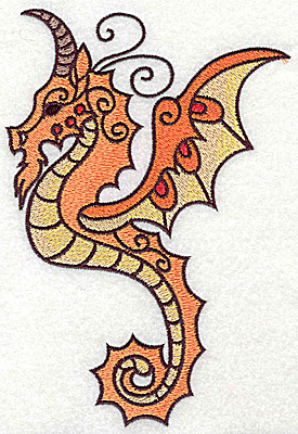 Embroidery Design: Dragon 5 large 4.74w X 6.95h