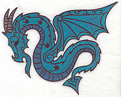Embroidery Design: Dragon 6 large 6.94w X 5.50h
