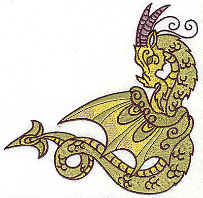 Embroidery Design: Dragon 7 large 6.96w X 6.84h