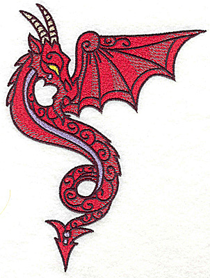 Embroidery Design: Dragon 8 large 5.23w X 6.92h