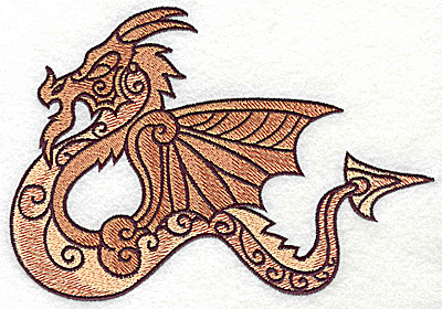 Embroidery Design: Dragon 9 large 6.99w X 4.81h
