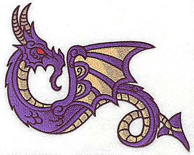 Embroidery Design: Dragon 10 large 6.94w X 5.73h