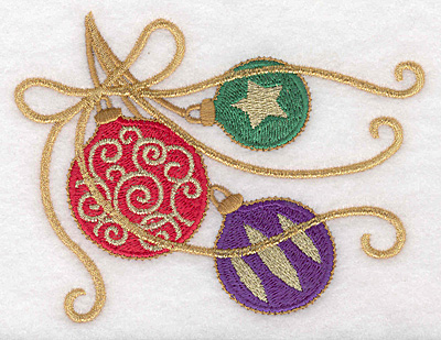 """Embroidery Design: Ornaments large 5.00""""w X 3.85""""h"""