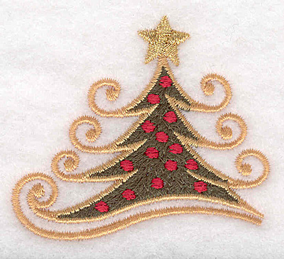 """Embroidery Design: Christmas tree small 2.50""""w X 2.25""""h"""