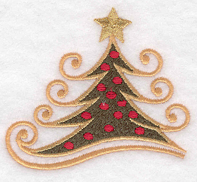 "Embroidery Design: Christmas tree medium 3.32""w X 3.01""h"