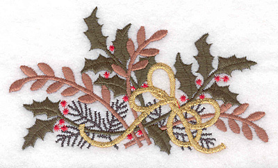 "Embroidery Design: Christmas decoration large 5.00""w X 2.88""h"