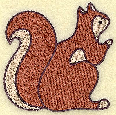 Embroidery Design: Squirrel 3.44w X 3.41h