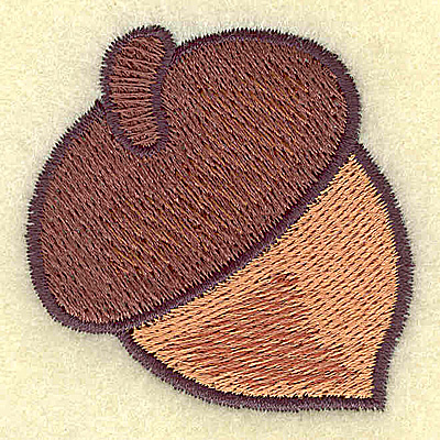 Embroidery Design: Acorn 1.97w X 1.96h