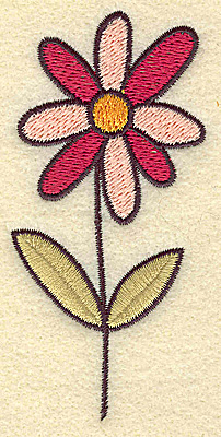 Embroidery Design: Daisy 1.87w X 3.86h