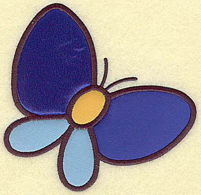 Embroidery Design: Butterfly (triple applique) 5.08w X 4.99h